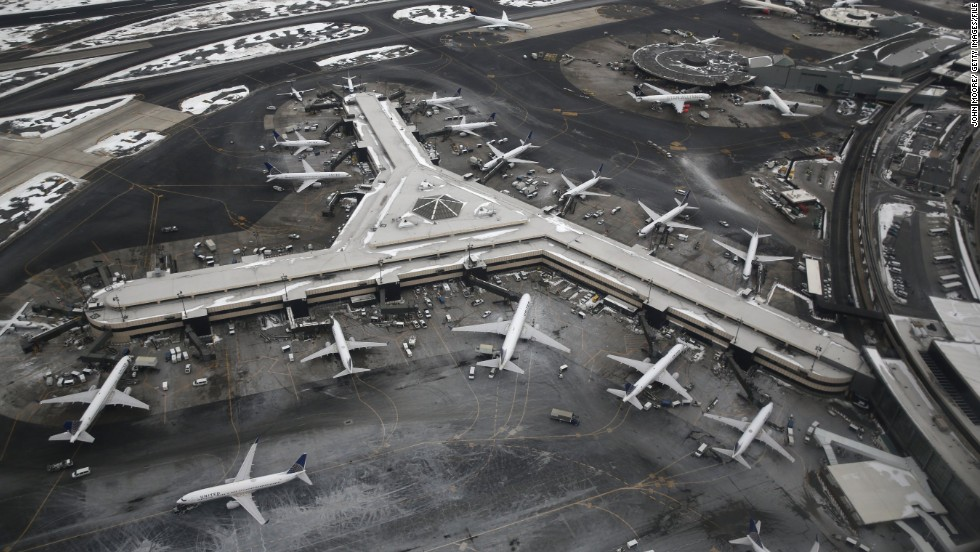 Newark Airport is your best bet if you're staying on the west side of Manhattan.