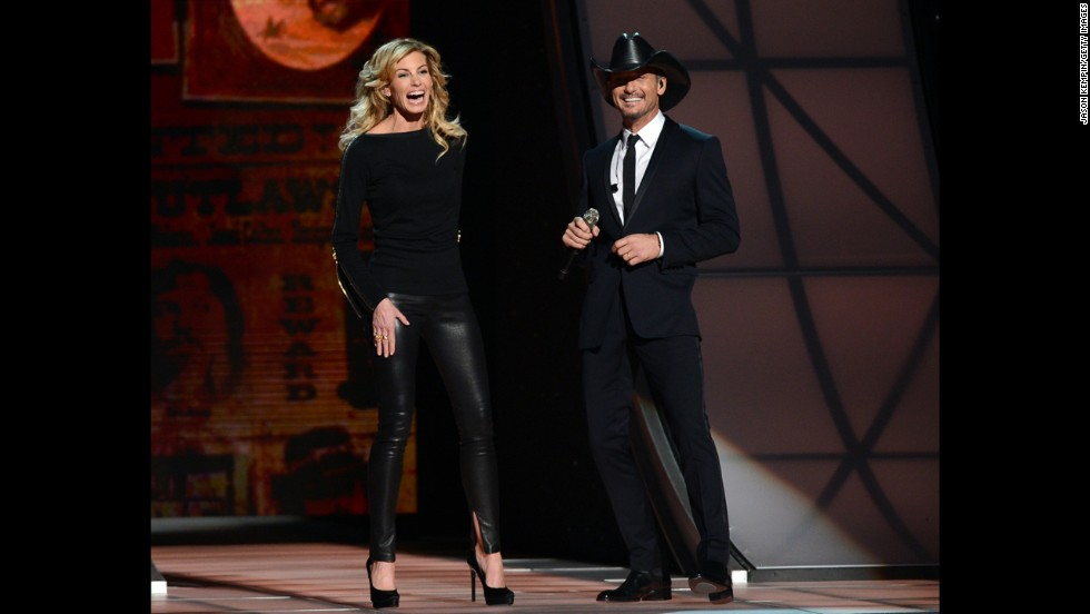 "<strong>Faith Hill </strong>and<strong> Tim McGraw:</strong> With a marriage that's lasted 17 years, Faith Hill and Tim McGraw are one of contemporary country music's most enduring couples. The pair, who met in 1996 when Hill opened up for McGraw on a tour, are so close that the music industry can't quite believe they're still together. When rumors that they were headed for divorce flew around last fall, Hill, who has three daughters with McGraw, <a href=""http://www.people.com/people/article/0,,20756809,00.html"" target=""_blank"">told People magazine</a> the gossip left her ""perplexed"": ""I don't know why 'happy' can't be a story."""