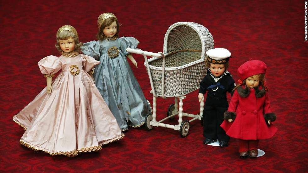 A collection of childhood toys belonging to the Princesses Elizabeth and Margaret.