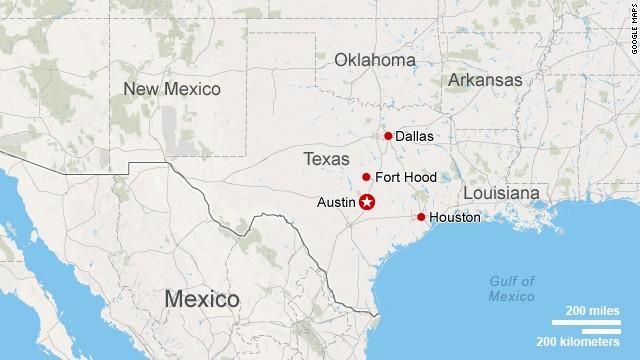 Map: Fort Hood