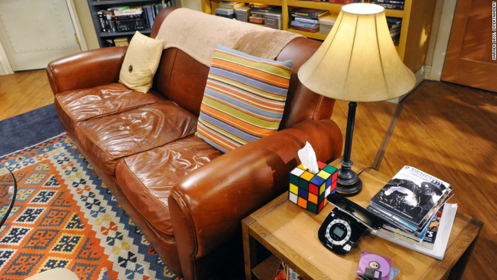 "Here we have one of the most important parts of the set and one true fans will immediately recognize, ""Sheldon's spot"" on the couch. And that Rubik's cube tissue box? It was invented by executive producer Steve Molaro's friend Nicole Gastonguay."