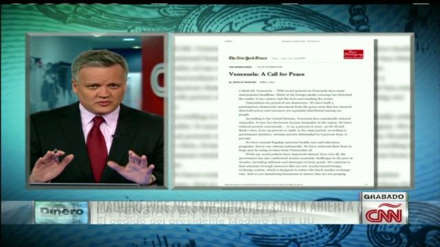 exp xavier cnn dinero Maduro, carta al NYTimes y las sanciones_00002001.jpg