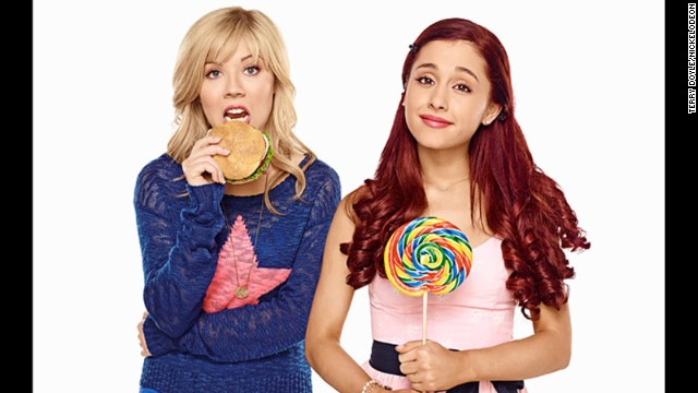 "Jennette McCurdy and Ariana Grande star in ""Sam & Cat ."""
