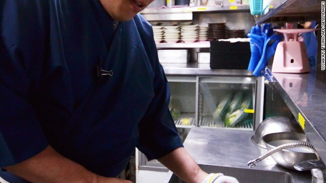 Before fugu is served, chefs remove the fish's toxic internal organs.