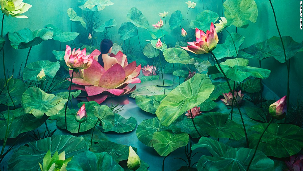 "The lotus flower represents birth and resurrection in various cultures including in Korea. It is also thought to have a purifying effect, an association which Lee applied to her life: ""I wanted to show my personal experience of being born again by overcoming negative elements that had dragged me down, and cleansing myself emotionally,"" she explains."