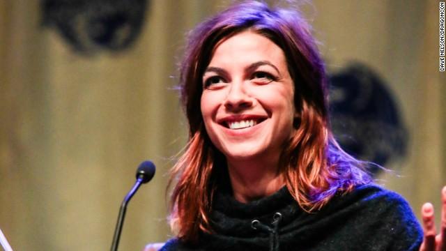 "Natalia Tena, who plays Osha on ""Game of Thrones,"" speaks at DragonCon 2013 in Atlanta."
