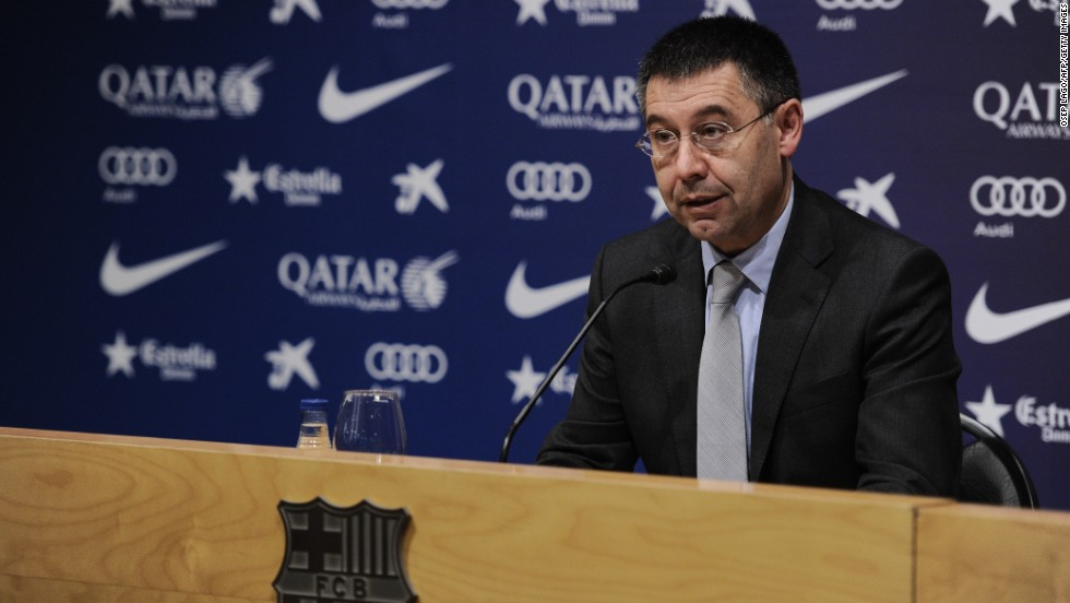 Barcelona's president Josep Maria Bartomeu gave a response to FIFA's sanction at a press conference on Thursday.