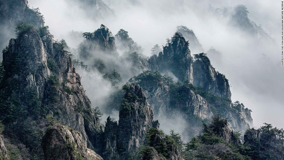 """This picture is photographed from the peak -- very pretty but relatively more dangerous and challenging to summit,"" says Zhang. ""It's usually the explorers and photographers who climb to the very top."""