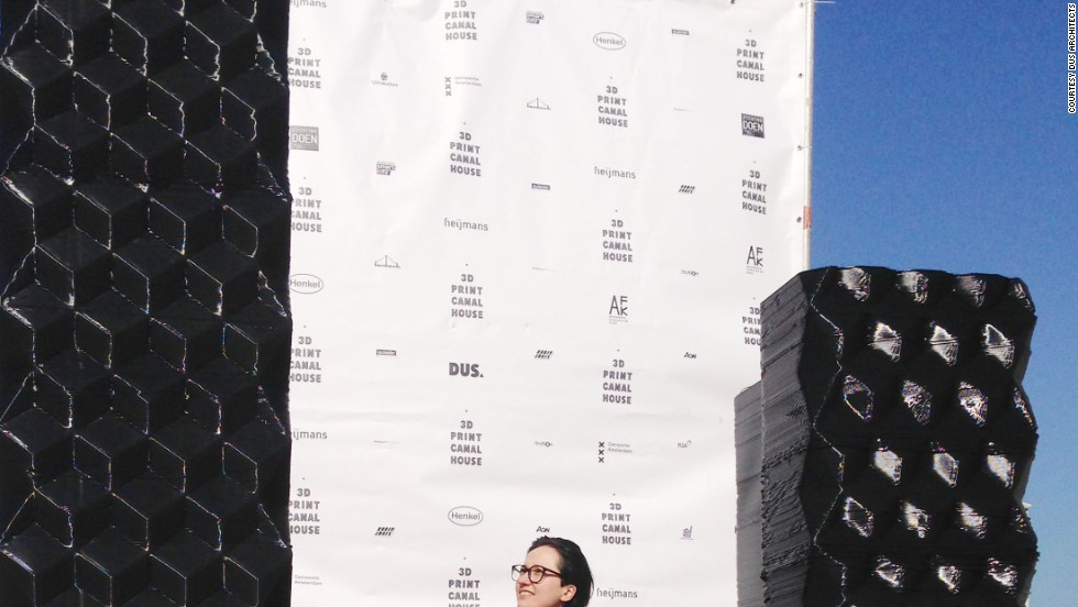 The blocks that have been printed so far measure roughly 2.5 meters tall high and 1.7 meters wide and have attracted visitors including U.S. President, Barack Obama.
