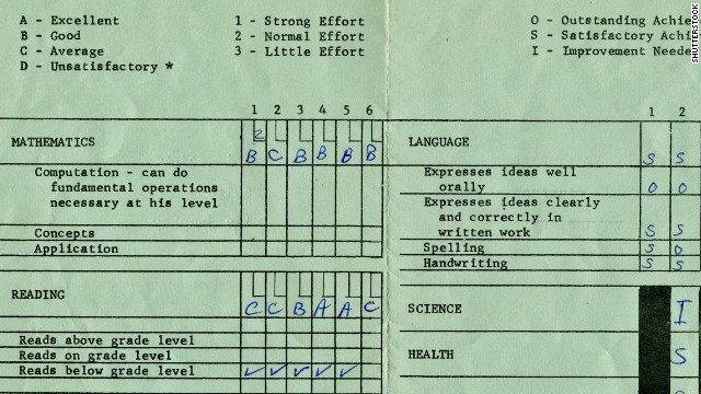 Some schools are turning away from report cards that focus on letters grades with little room for detailed feedback.