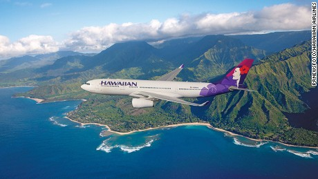 Hawaiian Airlines wide-body, twin-aisle Airbus A330-200 aircraft seats 294 passengers.