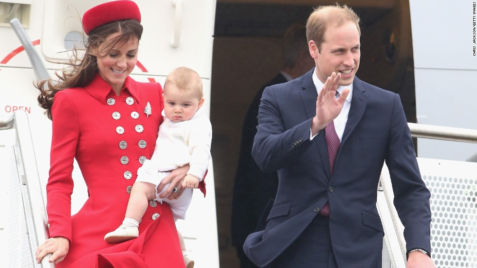 The royal couple and their son arrive in Wellington on Monday, April 7.