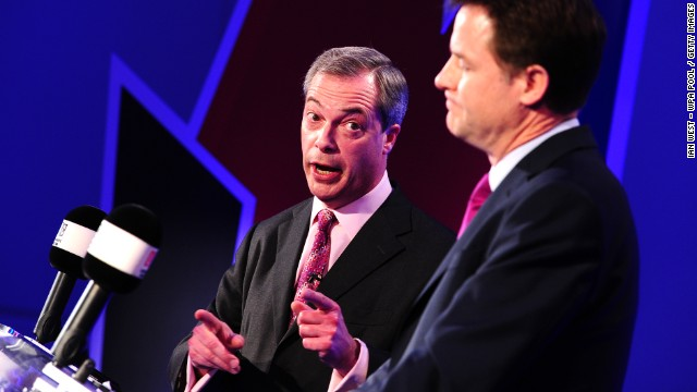 Deputy PM Nick Clegg and UKIP leader Nigel Farage debate Britain's future in the EU.
