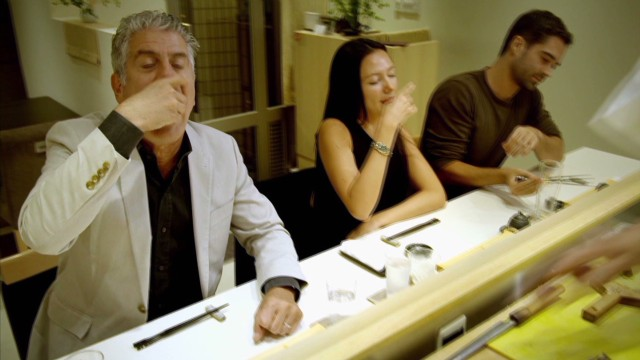 Bourdain searches for the perfect sushi
