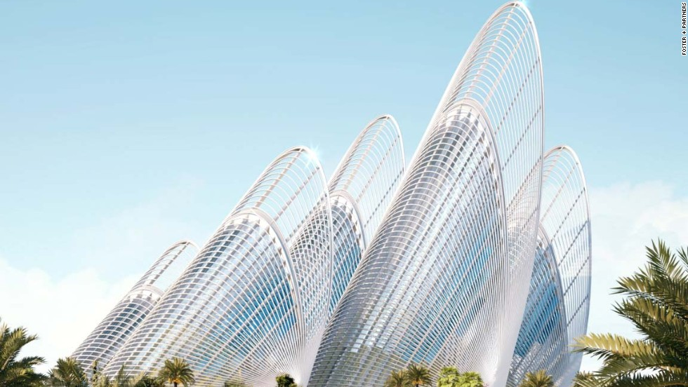 """Architectural firm <a href=""""http://www.fosterandpartners.com/projects/zayed-national-museum/"""" target=""""_blank"""">Foster + Partners</a> won the contract as part of an international design contest. Their design was """"inspired by the dynamic of flight and the feathers of a falcon."""" Each """"feather"""" will rise 125 meters and house gallery space."""