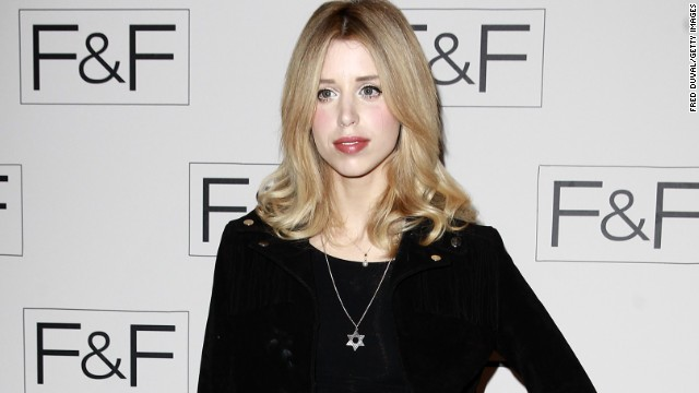 LONDON, UNITED KINGDOM - APRIL 03: Peaches Geldof attends the F&F aw14 Fashion show at Somerset House on April 3, 2014 in London, England. (Photo by Fred Duval/Getty Images)