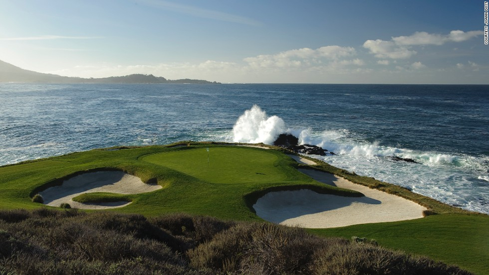 With nine holes that hug the rugged coastline, this is what the golf courses must be like in Heaven. Though hopefully not as expensive. A round at Pebble costs $495, not including the cart.