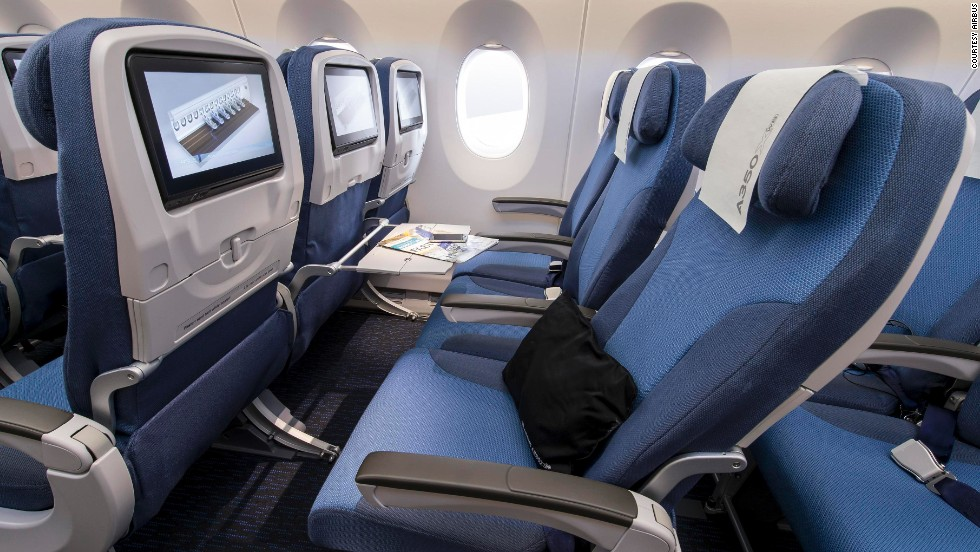The electronics for the in-flight entertainment systems will all be hidden below the floor, so no more kicking of metal boxes under the seat in front of you.
