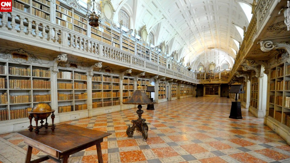 "The <a href=""http://www.golisbon.com/portugal/cities/mafra.html"" target=""_blank"">library</a> of the <a href=""http://ireport.cnn.com/docs/DOC-1116265"">National Palace in Mafra</a>, Portugal, is embellished with marble and contains 35,000 volumes, which include a trilingual Bible from 1514 and the earliest edition of Homer in Greek."