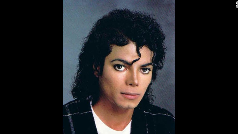 Michael Jackson sports the Jheri curl