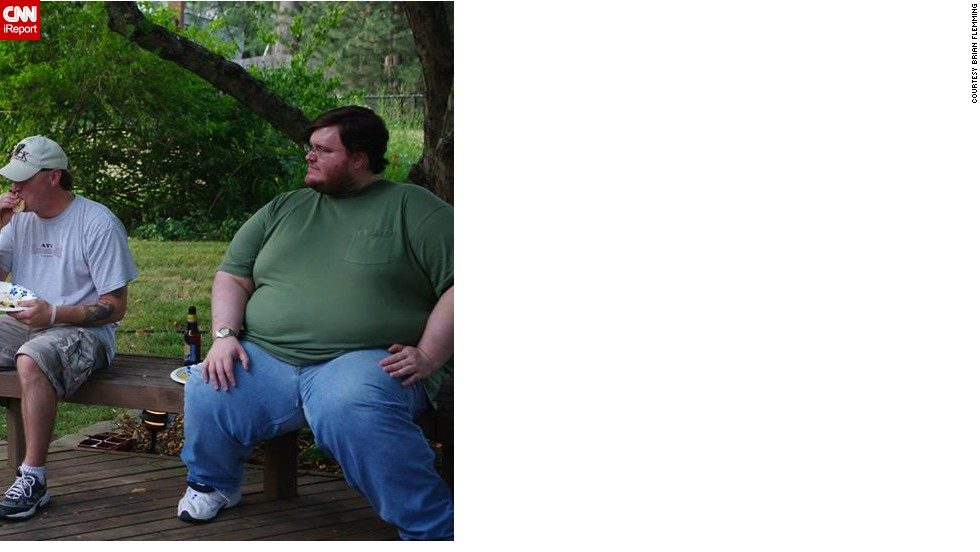 "Brian Flemming weighed over 600 pounds in 2011. He was heavy as a kid, and remembers his eighth grade gym teacher telling him to stop drinking soda and go for a walk every day. ""I obviously didn't listen,"" Flemming said."
