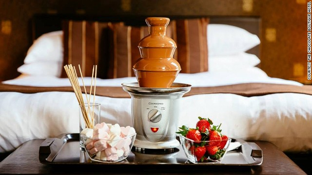 At the Chocolate Boutique Hotel, there's no such thing as too much chocolate.