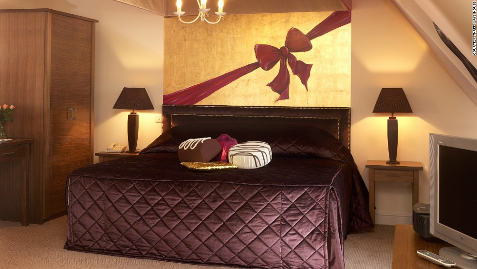 Sleeping with chocolate-shaped pillows probably won't satisfy your insane desire for chocolate. But the indulgence package includes breakfast, snacks and dinner featuring chocolate.
