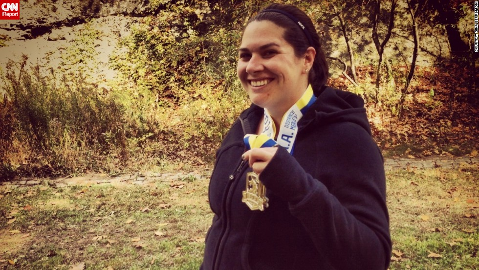 """Running has been a stress relief for me, but this year meant a little more,"" said Boston resident <a href=""http://ireport.cnn.com/docs/DOC-1063131"">Gina Berrettoni</a>, who knew several people who were running last year's Boston Marathon. Thankfully, none of her friends were injured. She has run several races since the attack, including a 10K, a half-marathon and a relay."
