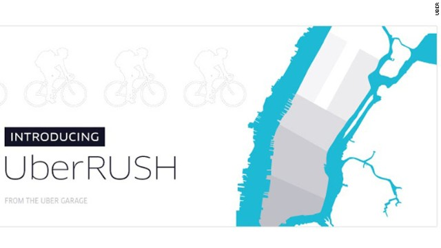 Uber Rush is a new service from the company that lets app users hook up with nearby drivers for a fee.