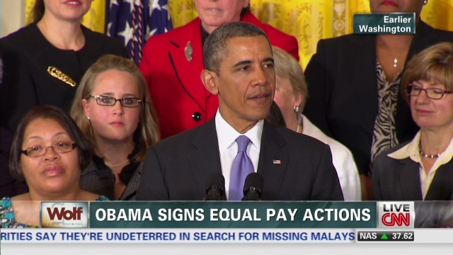 Obama signs equal pay actions