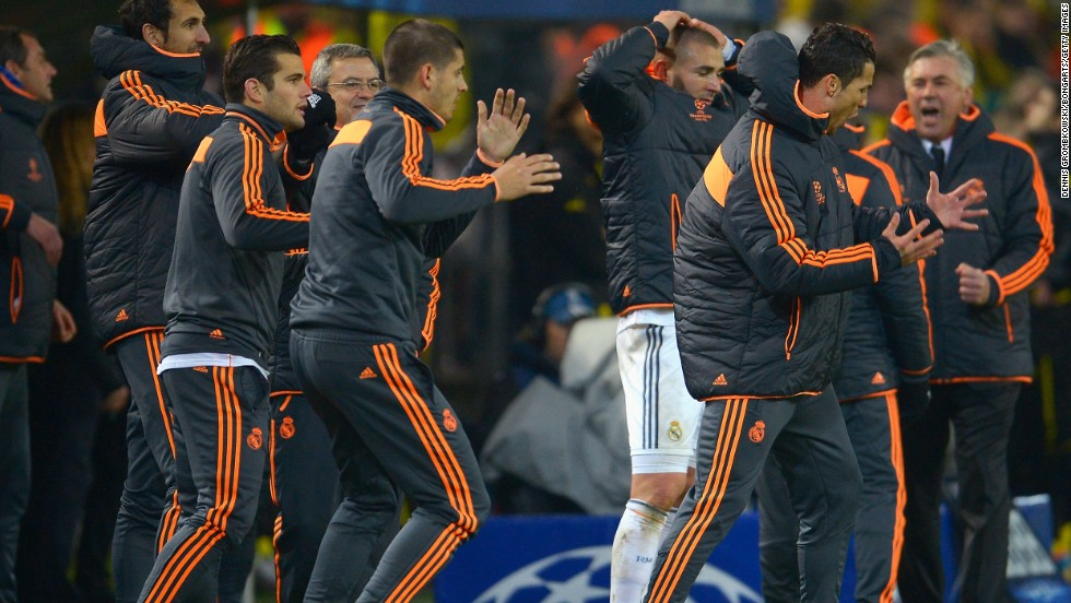 Real Madrid barely advanced in the other quarterfinal, 3-2 on aggregate. It lost the second leg 2-0 Tuesday and had keeper Iker Casillas to thank for limiting the damage in Germany.