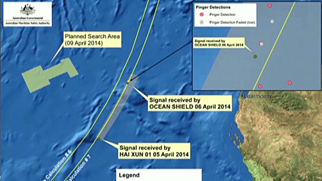 New pings in the Flight 370 searchzone