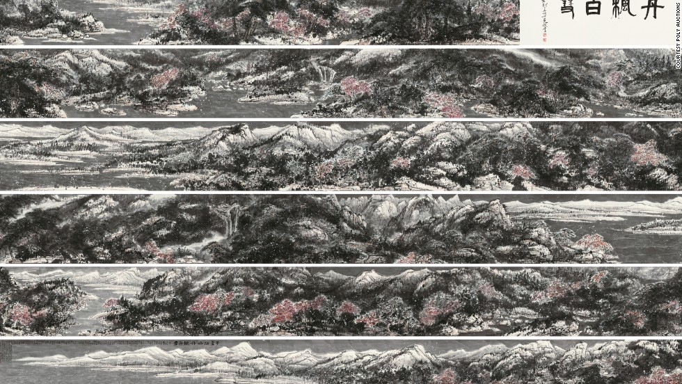 "At a Hong Kong sale by Chinese giant Poly Auction, ""Landscape in Snow"" by Cui Ruzhou sold for $24 million."