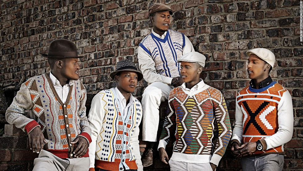 South African knitwear designer Laduma Ngxokolo creates clothes inspired by the aesthetics of the Xhosa community.