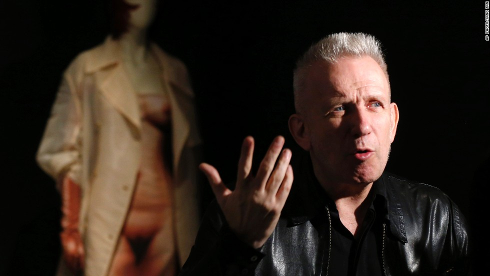 French couturier Jean Paul Gaultier during the launch of his exhibition.