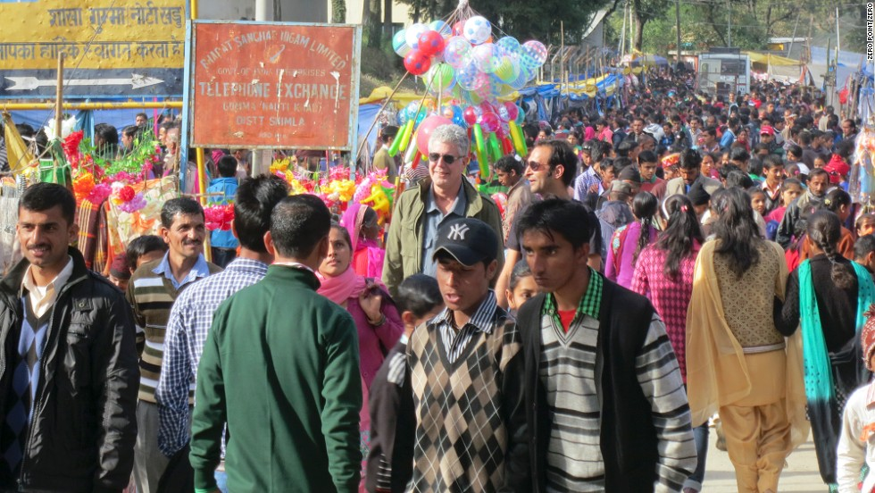 """In India -- <a href=""http://www.cnn.com/video/shows/anthony-bourdain-parts-unknown/season-3/punjab-india/"">Punjab in particular</a> -- the thing you notice first, the thing that stays with you, is the colors,"" Bourdain said. Here, he attends a traditional festival in Himachal Pradesh, a northern Indian state that borders Punjab."