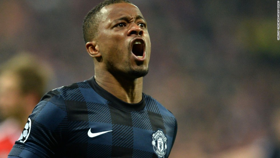 United took a shock 57th minute lead when Patrice Evra's thunderbolt flew into the top corner of the net from 20-yards.