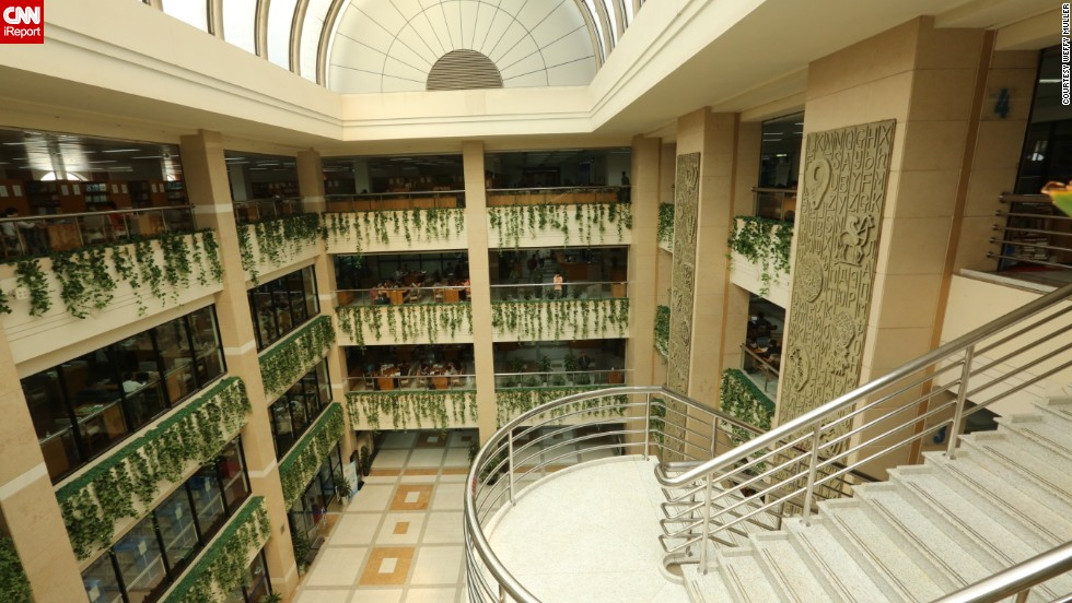 "<a href=""http://ireport.cnn.com/docs/DOC-1118192"">Weffy Müller</a> says that the architecture of the <a href=""http://www.library.sh.cn/web/index.html"" target=""_blank"">Shanghai Library</a> isn't as impressive as some of the libraries she's visited, but ""the amount of the collection is quite amazing."" According to <a href=""http://www.shanghaiexpat.com/article/good-read-pt3-libraries-shanghai-9268.html"" target=""_blank"">Shanghai Expat</a>, the library has books that cannot be found anywhere else in China. <br /><br /><strong>Click on the double arrows below to see more beautiful photos of libraries.</strong>"