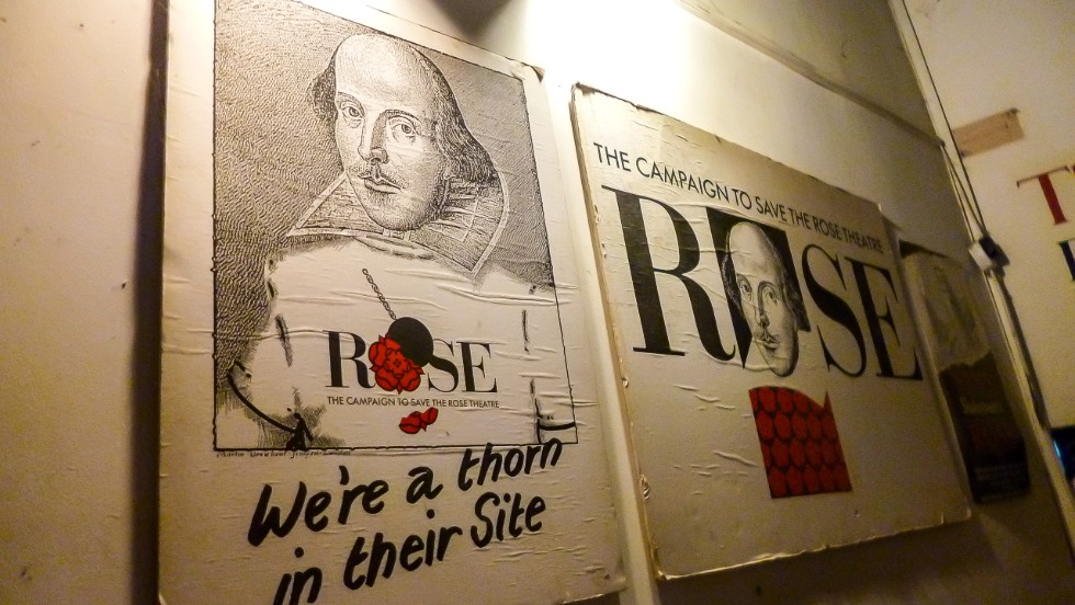 Shakespeare is thought to have learned his trade at The Rose, the first Elizabethan theater on London's Bankside.