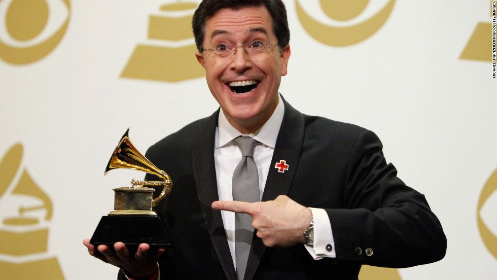Colbert's awards haul isn't limited to Emmys and Peabodys. In 2010 he won a Grammy for his Christmas album and four years later won another for best spoken-word album.