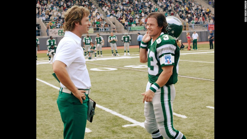 """Invincible"" (2006): Greg Kinnear coaches Mark Wahlberg, his new Philadelphia Eagle."
