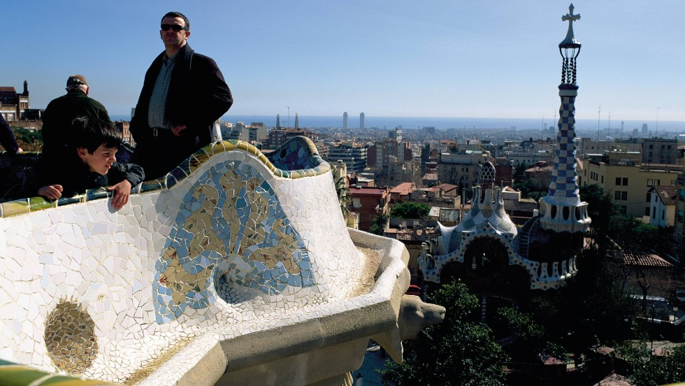 Park Guell, one of Antoni Gaudi's ingenius marvels, is tops in Barcelona.