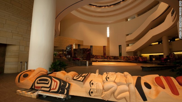 Totem pole by Tsimshian carver David R. Boxley at the National Museum of American Indian.