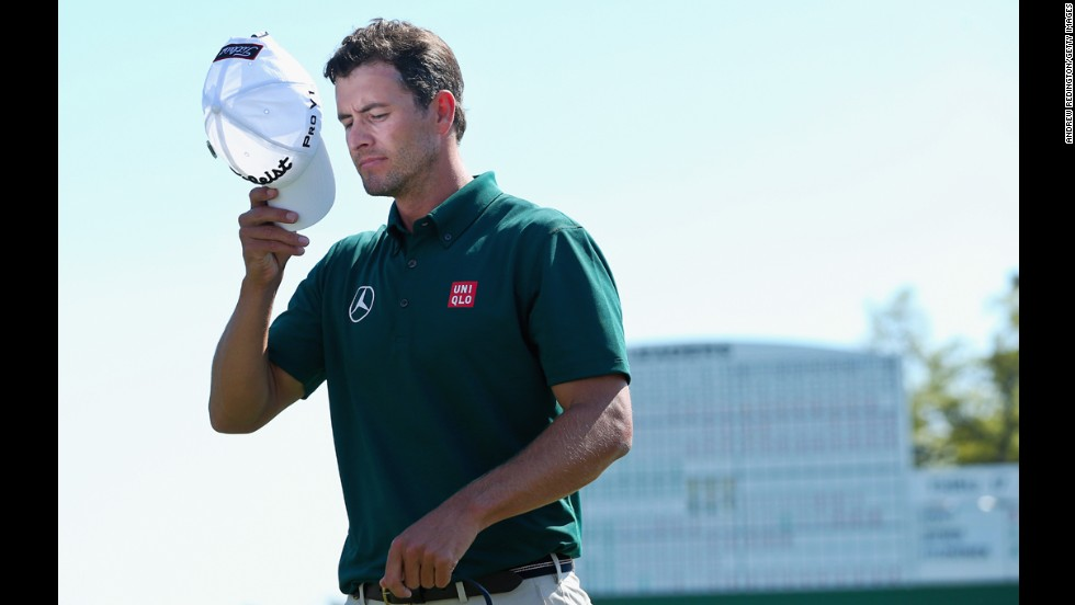 "<a href=""http://bleacherreport.com/articles/2024962-lookmasters-repeat-still-a-long-way-off-for-adam-scott-after-strong-first-round"" target=""_blank"">Defending Masters champion Adam Scott</a> walks off the 18th green during the first round of the Masters on April 10. The No. 2 golfer in the world recently signed a multiyear contract with Japanese retailer UNIQLO. Previously, the clean-cut Aussie endorsed the British luxury brand Burberry."
