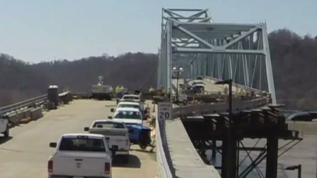 Timelapse shows largest bridge slide