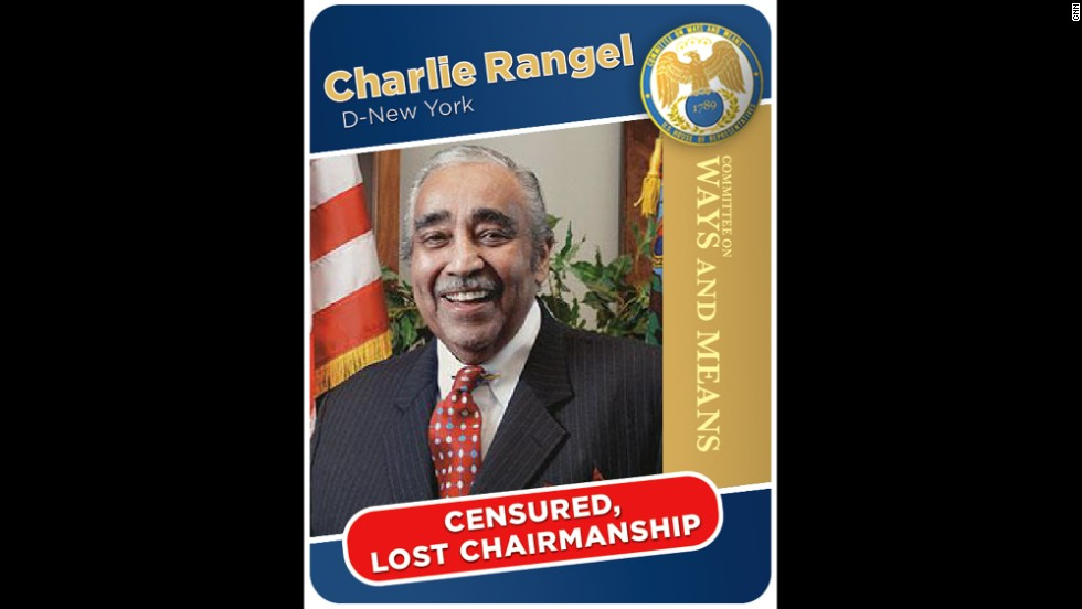New York Rep. Charles Rangel had to step down from the Ways and Means chairmanship in 2010 after tax issues around a villa in the Dominican Republican became public.