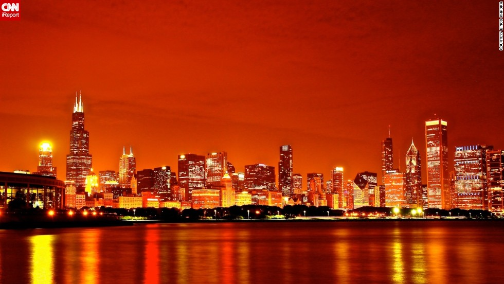 "Binod Khadka called Chicago his home for five years and the top thing he misses is the diversity and variety of the <a href=""http://ireport.cnn.com/docs/DOC-1114784"">city's architecture</a>. This bright image was captured with a long shutter speed."