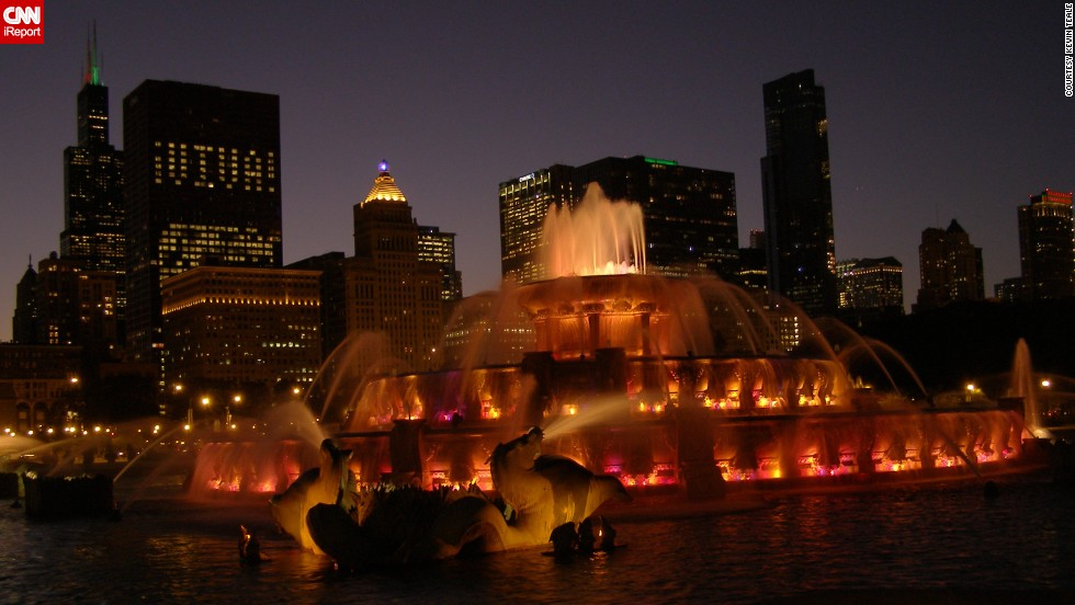 """A warm summer night with a love in hand, watching <a href=""http://ireport.cnn.com/docs/DOC-1099288"">Buckingham Fountain</a> light up the sky cannot be matched,"" says Kevin Teale."
