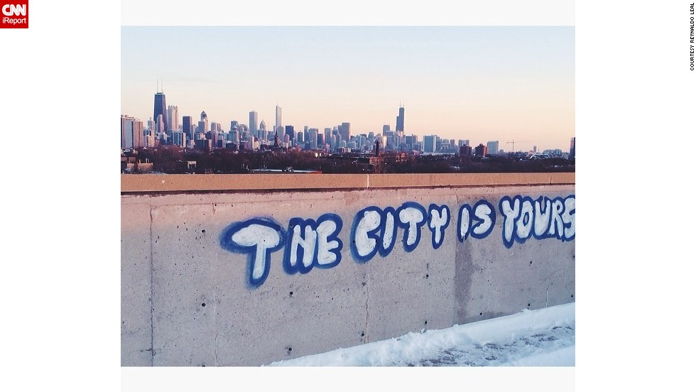 """Every day I wake up and see that powerful, <a href=""http://ireport.cnn.com/docs/DOC-1105536"">breathtaking skyline</a>, I feel inspired to work hard to make my city even greater,"" says Reynaldo Leal. ""I proudly tell people 'I'm from Chicago' no matter what misconceptions they might have."""