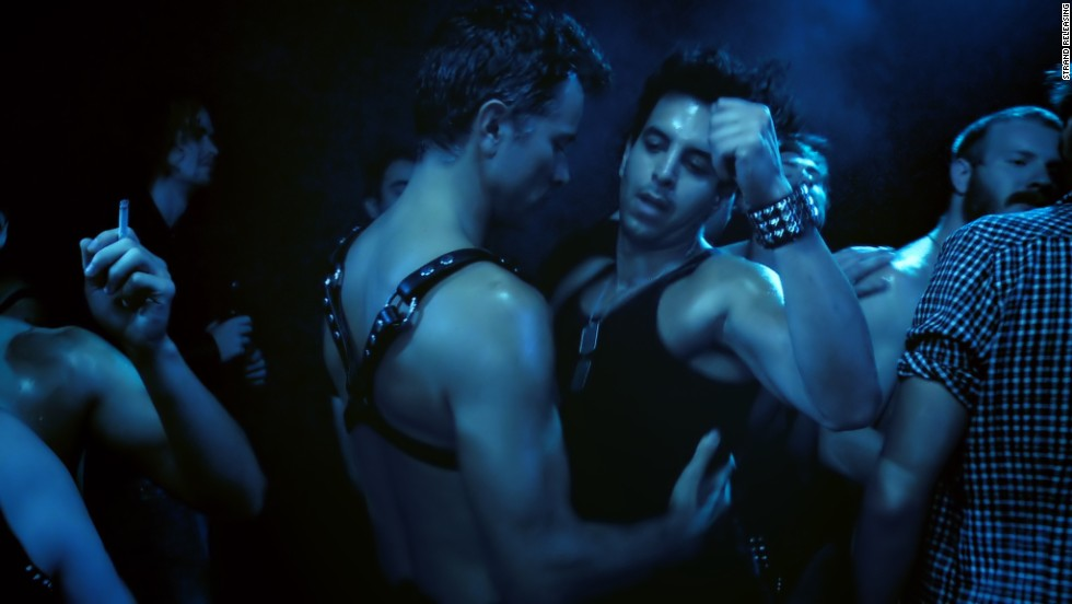"James Franco and Travis Mathews star as themselves in the docufilm ""Interior. Leather Bar."" The pair also directed the project about trying to re-create deleted footage from the 1980 film ""Cruising."""